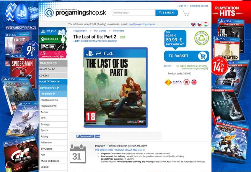 انتشار بازی لست آو آس 2 - The Last of Us Part II در سپتامبر سال 2019