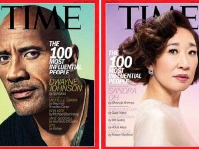 دواین جانسون، ساندرا اوه و تیلور سوئیفت در جمع ۱۰۰ چهره تاثیرگذار ۲۰۱۹ مجله تایم