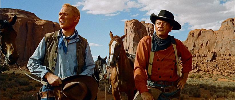 فیلم The Searchers محصول آمریکا کارگردان:John Ford بازیگران:John Wayne, Jeffrey Hunter, Vera Miles سال ساخت:۱۹۵۶