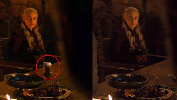 لیوان قهوه جدا مانده در قسمت چهارم فصل هشتم سریال گیم آف ترونز - Game of Thrones