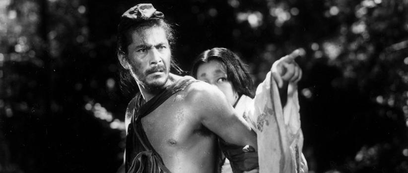 فیلم Rashomon محصول ژاپن کارگردان:Akira Kurosawa بازیگران:Toshiro Mifune, Machiko Kyō, Masayuki Mori سال ساخت:۱۹۵۰