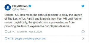 تاخیر انتشار بازی Last Of Us 2