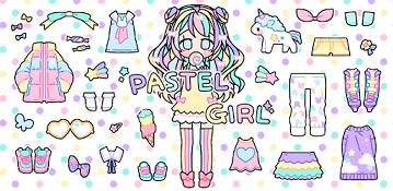 بازی Pastel Girl – دختر نقاشی شده