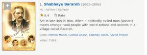 شب های برره اولین مورد از بهترین سریال های ایرانی در imdb