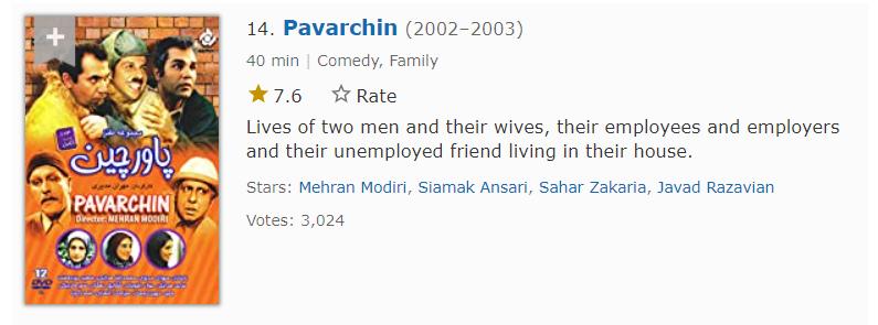 سریال طنر پاورچین مهران مدیری چهاردهمین مورد از بهترین سریال های ایرانی در imdb