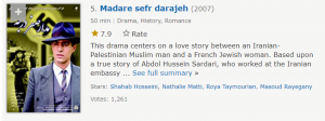 سریال مدار صفر درجه حسن فتحی پنجمین مورد از بهترین سریال های ایرانی در imdb