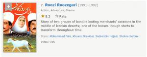 روزی روزگاری هفتمین مورد از بهترین سریال های ایرانی در imdb